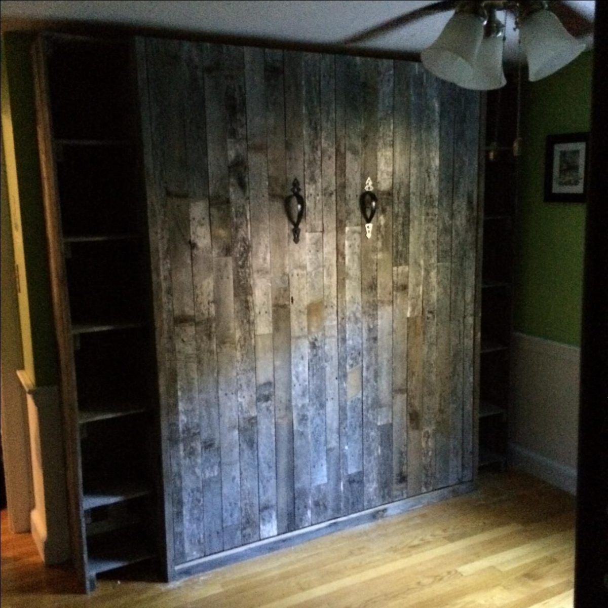 A Murphy Bed Made from Reclaimed Wood